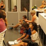 Simultaneous interpreting German-English. Attac! Summer school in Toulouse, France, 2017.