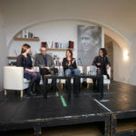 Interpreting a discussion on the reception of Czech literature in Germany. Jörg Plath (Deutschlandfunk), Radka Denemarková (writer), Zuzana Jürgens (moderator) 2016